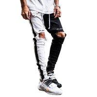 الرجال السراويل haleychan الرجال هول سليم مستقيم جينز سستة القدم الفم الإملائي اللون الدينيم بنطلون الحريم pantalones دي hombre moda 2021