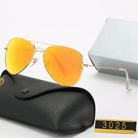 Erkekler için Yeni Moda Güneş Gözlüğü Kadınlar Metal Çerçeve Ayna Polaroid Lensler Sürücü Kılıfları ve Kutu Rtsgsth ile Güneş Gözlükleri Yasak