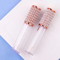 5ml Tubi di libbra di strass cristallo 5ml Tubi vuoti Balsamo per labbra Contenitori con tappi in gomma per labbra Balsamo lucido Cosmetico