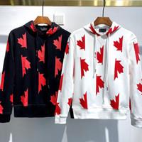 dsquared2 D2 DSQ conception d'impression de mode de sport Mens Les hommes cagoulés automne chandail à manches longues et le style de la mode d'hiver