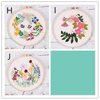 꽃 식물 패턴 천 컬러 스레드 도구 홈 장식 새로운 예술 DIY 스탬프 자수 스타터 키트