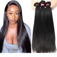 4 Bündel Unverarbeitet Brazillian Jungfrau Gerades Haar Günstige brasilianische menschliche Haare Webart Bündel 8A Brasilianische Gerade Bündel Natürliche Farbe