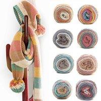 Шарверы 100 г / шар радуги красочные хлопчатобумажные вязание пряжи 5 прядь ручной ткани для толстого крючком одеяло шарф шляпа свитер1