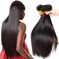 Brezilyalı Düz 100% İşlenmemiş İnsan Bakire Saç Örgüleri Remy İnsan Saç Uzantıları İnsan Saç Örgüleri Boyutlu 3 Demetleri