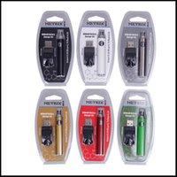 DHL ücretsiz metrik ön ısıtma kabarcıklı pil 650 mAh ön ısıtma değişken voltaj piller VV USB şarj vape kalem kiti için 510 iplik kartuşu