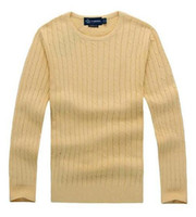 ralph lauren Hommes Designer Livraison Gratuite New Quality Mile Mile Wile Polo Brand Men's Twist Sweater Knit Coton Pull Jumper Pull-Pull High Qualityo2v7
