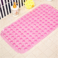 Tapetes de banho Anti-Slip Massage Mat 35 * 65cm Casa de banho Pierced PVC PAD PAD com ventosas Banhos de banho antiderrapante acessórios para banheiro e 40 k2