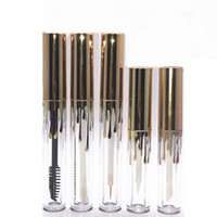 DIY 4ML Lipgloss Caja de plástico Contenedores Oro vacío Lipgloss Tubo delineador de ojos Contenedor de pestañas Mini brillo de labios Botella de embalaje Botellas de embalaje