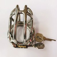 2021 Newest Ergonomic Stainless Steel Stealth Lock Male Chastity Device,Cock Cage,Fetish Penis Lock,Cock Ring,Chastity Belt C056