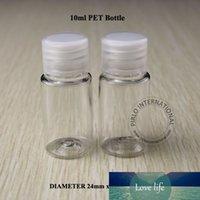 Vente en gros 10ml / 10cc excellente bouteille en plastique PET Lotion cosmétiques Bouteilles Petit pot Effacer avec couvercle à vis 200pcs / lot Livraison gratuite