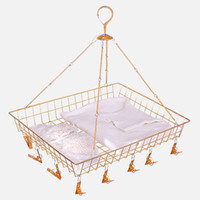hangers Top Hit Rate products high quality wholesale metal sales Laundry basket and socks clip 06