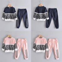 30m 유머 곰 가을 겨울 어린이 만화 소녀 아기 아이 옷을 입은 아이 겨울 옷 아기 소녀 의류 디자인 긴 소매 세트