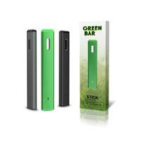 Barra verde original Kit de dispositivo descartável 280mAh bateria 1,0ml Cartucho Vape Vape Vape Vape Vaporizador Autêntico