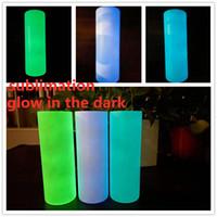 Sublimation DIY Gerade Tumbler 20zglühen in den dunklen Tumbers mit leuchtender Farbe Lumineszzierender magischer Skinny Cup