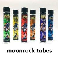 Preroll Moonrocks Cam Tüpler Temizle 120 * 20mm Ön Rulo Paket E-Sigaralar Cam Tüp Şişesi 6 Çıkartmalar 250 adet / grup Dankwoods