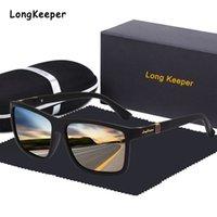 2020 vintage óculos de sol polarizados homens quadrados de condução de tons de sol óculos marca desgin espelho revestimento Óculos com caixa de presente oculos