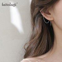 Bolzen einfache lange Quaste Kette Ohrringe für Frauen Hip Hop Gold Silber Farbe Kreis Runde Geometrische Piercing Ohr Schmuck Mädchen Geschenk