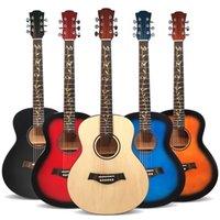 جودة عالية 36 بوصة غيتار الجيتار الصوتي الصدري مناسبة لطلاب المبتدئين الآلات الموسيقية ماتي لا شعار