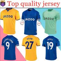 Männer + Kinder Kit 20/21 Everton Soccer Jerseys James Richarlison Kean Sigurdsson Fußball Hemd 2020 2021 Walcott Everton nach Hause Uniformen