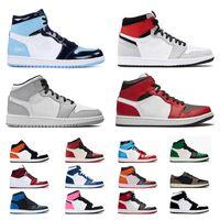 Nike Air Retro Jordan 1 High Jordans 1s Mid Low Jumpman Milan Mid Chicago Shoes Womens Basketball Mens Low escuras Mocha alta Obsidian Trainers Sneakers tamanho US 12