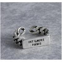 Lleve de la vendimia Anillo abierto Mujeres Retro letra de dedo Anillo de dedo Accesorios de joyería de moda para el partido de regalos MDBSU