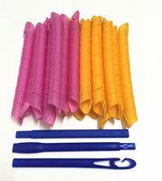 Magic Hair Rollers Scroll Volumen Medium Langes Haar 55cm Länge 18 Spiral Curling Lockenwickler Variety Birne Blume 1set