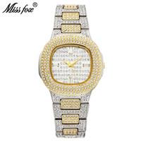 ملكة جمال فوكس bussiness كوارتز ساعة العلامة التجارية الشهيرة بو الماس ووتش المقاوم للصدأ ساعة المرأة الذهبي ساعة السيدات مصمم ووتش Y19062402