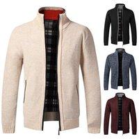 Invierno Hombre Punto SweaterCoat Patrón de Lana Cardigan Macho Velvet Casual Tercullo Thicken Warm Fleece Suéter para Hombre Hombre1