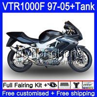 Körper + Tank für Honda Superhawk VTR1000F 97 98 99 00 01 05 56HM.48 VTR1000 F VTR MATTE BLACK 1000 F 1000F 1997 1998 1999 2000 2001 Verkleidungen
