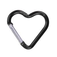حلقة الاسلكية أقراط القلب شكل المفاتيح في الهواء الطلق معسكر الرياضة المفاجئة كليب هوك المشي لمسافات طويلة الألومنيوم المعادن مريحة المشي لمسافات طويلة التخييم كليب على CCE4272