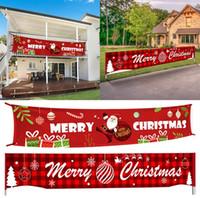 Halloween Père Noël extérieur Bannière Joyeux Noël Décoration pour la maison de Noël 2020 Ornements Navidad Noel Nouvel An 2021 Party banner