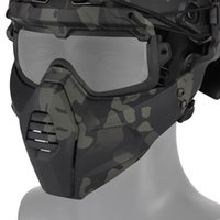 Masque amovible Airsoft / CS / Ski / Snowmobile / Cyclisme / Halloween Sports Sports Masque Tactique Paintball Lunettes KT01 Q0107