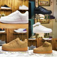 Toptan 2021 Yeni Tasarımcılar Açık Erkekler Düşük Kaykay Ayakkabı Ucuz Bir Unisex 1 Örgü Euro Airs Yüksek Kadınlar Tüm Beyaz Siyah Yürüyüş Ayakkabıları G66