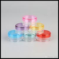 3G 5G Plastik Krem Kavanoz Küçük Krem Kozmetik Ambalaj Konteyner Deneme Örnek Şişeler Yuvarlak Alt Renkli Kap