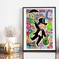 Grafiti POP Art Tuval Boyama Alec Tekel Karikatür Figür Poster Baskılar Modern Duvar Sanatı Resimleri Için Yatak Odası Çocuk Odası Ev Dekorasyon Için