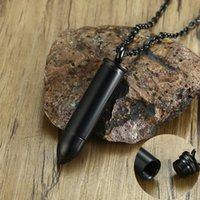 Los hombres bala colgante con cadena puede estar abierto Ash sostenedor del perfume recipiente de acero inoxidable Color Negro 200928