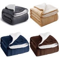 Сплошные цветные кашемировые одеяла Офисное Одноместный человек Двойной палуба Фланалена бросить одеяло многоцветный утолщение коврика 31 32BD J2