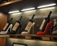 하이힐 와인 랙 천연 수지 와인 병 홀더 랙 선반 홈 파티 레스토랑 거실 다이닝 테이블 장식 LLS514