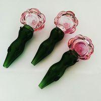 Amazing Rose Shape fumo tubi di vetro spesso tubo di vetro da tavolino DAB RIG 5,2 pollici Lunghezza