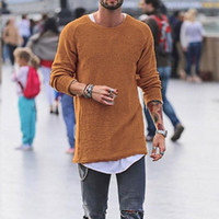 #e Sweaters Autumn Winter Man Knitted Shirt Casual Loose Simple Round Neck Long Sleeve Slim Basic Pullovers#ropa hombre