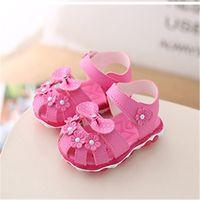 Xinfstreet Baby Малыш Летняя обувь Дети с Огромным Дышащим мягким Луком Дети Девушки Сандалии Sandals 21-30 Y200509