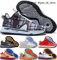 Sepetler Scarpe Trialler Siyah PG4 46 12 Beyaz Kutusu ile Eğitmenler Sneakers 47 Kadın Ayakkabı George Paul EUR Erkekler 38 IV PG 4 Basketbol Beden ABD 13