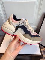 Rhyton Bege Homens Trainers 620.185 99WF0 4371 Luxury Vintage Chaussures Ladies Shoes Designer Sneakers Tamanho 35-45