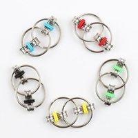Ключевое кольцо Fidget игрушка Flippy Chate Chate Metal Finger Toy Golding цепи декомпрессионный игрушка снимает стресс рукой спиннер для детей взрослых