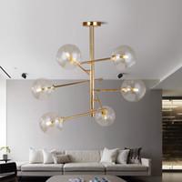 Итальянский дизайн лампа стеклянный шар пузырь люстры для гостиной столовая кухня остров черный розовый золотой свет