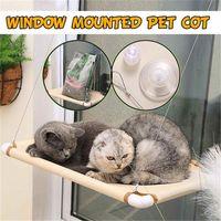البيج 55x35 سنتيمتر الحيوانات الأليفة القط أرجوحة سرير دافئ لينة القط كبير شنقا سرير الحيوانات الأليفة أرجوحة نافذة مثبتة مقعد حصيرة Y200330