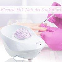 1 unids arte de uñas lavado a mano removedor remojo tazón diy salón uñas spa baño tratamiento herramientas de manicura burbuja masaje jet spa tazón de fuente