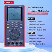 UNI-T UT81C UT81B Tasa de muestras en tiempo real Handheld Osciloscopio Multímetro digital AC DC Resistencia Frecuencia de la capacitancia Medidor
