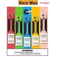 100% Authentic Barz Max Одноразовая Vape Pod Устройство 600 пуфы 420mAh Аккумулятор 2ML Соль 5% Пустой картридж E-сигареты Kit