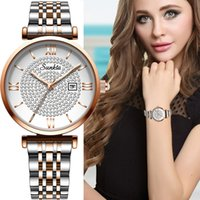 New sunkta women watch luxury steel belt wristband fashion watch women mineral glass mirror casual waterproof quartz watch 201114